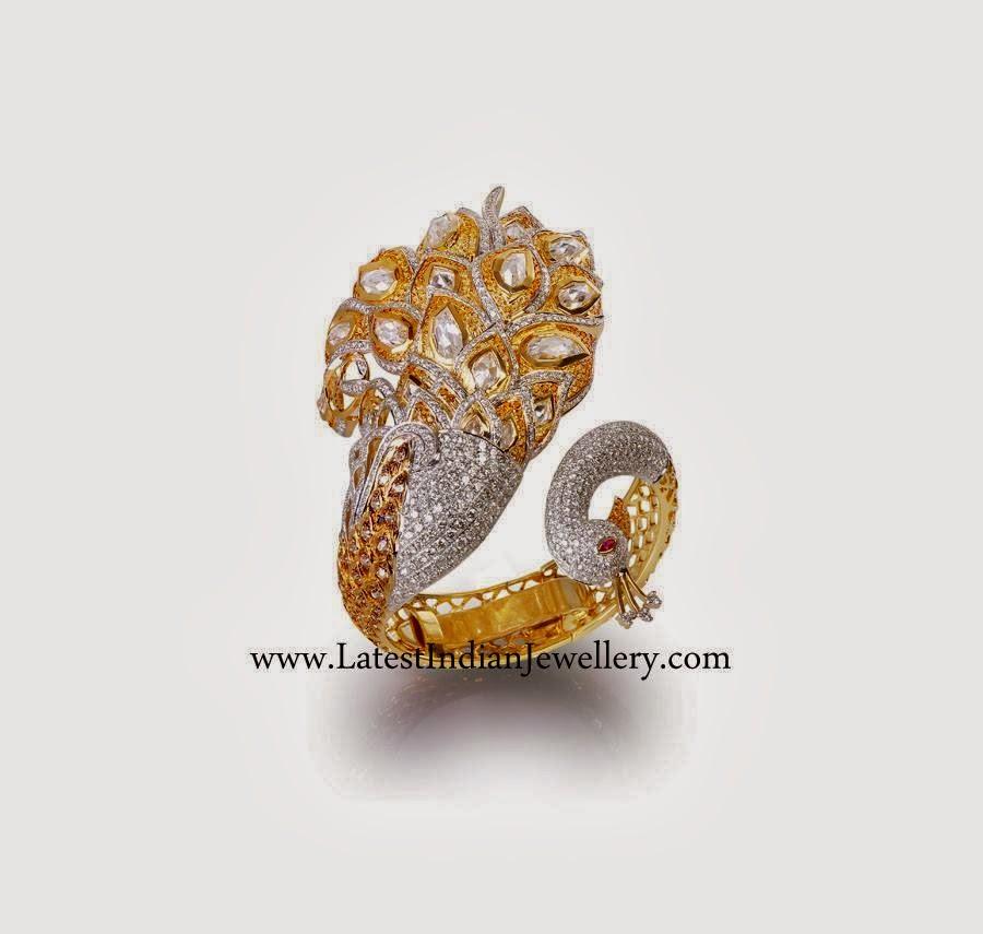 Stunning Designer Peacock Diamond Ring Latest Indian
