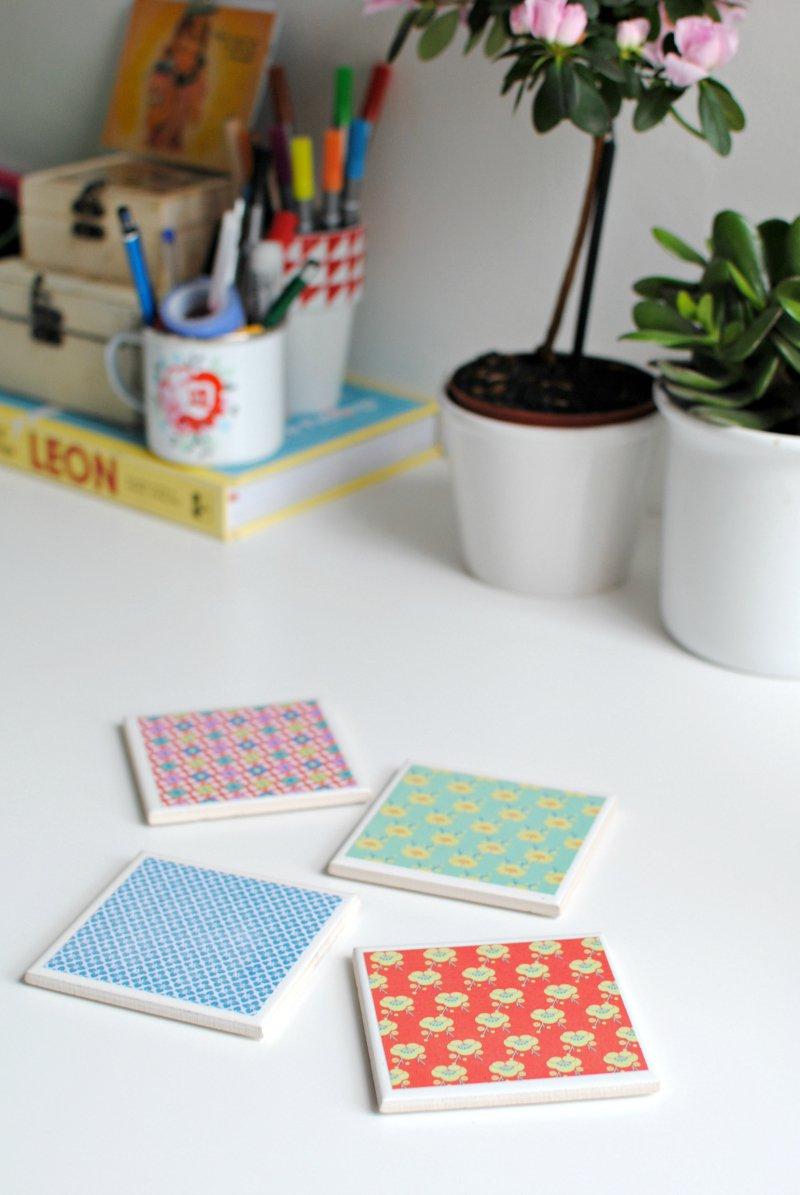 DIY: make your own tile coasters | BURKATRON
