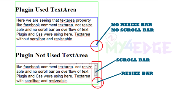 Facebook Style Textarea Auto Grow Using JQuery Plugin and