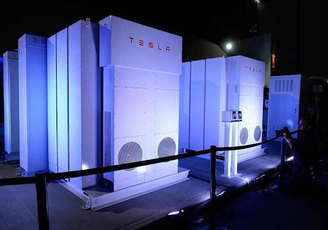 Tesla's Giant Battery Farm
