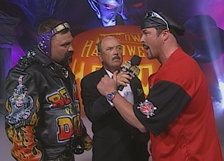 WCW Halloween Havoc 1998 - Buff Bagwell begs Rick Steiner to let him be in Rick's corner against Scott Steiner