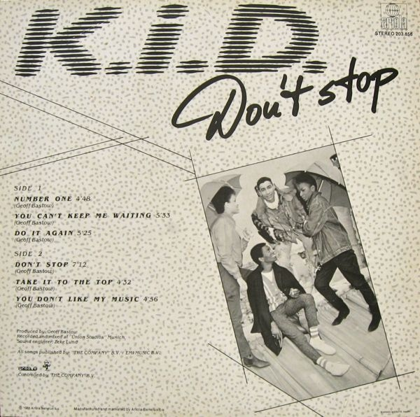K.I.D. - Don't Stop / Do It Again