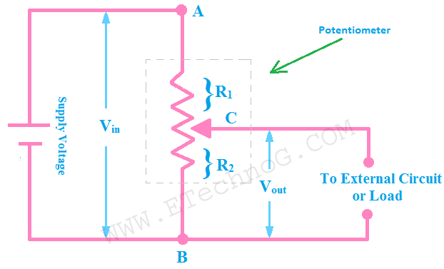 voltage divider circuit using potentiometer