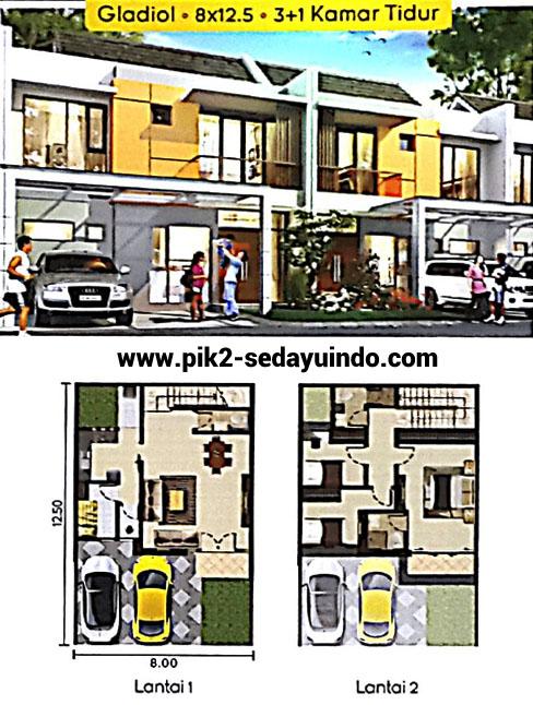 Rumah PIK 2 Dijual Cluster Nashville Tipe Gladiol