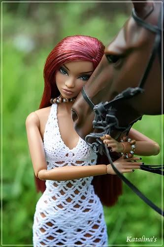 Vestido de crochê para Barbie
