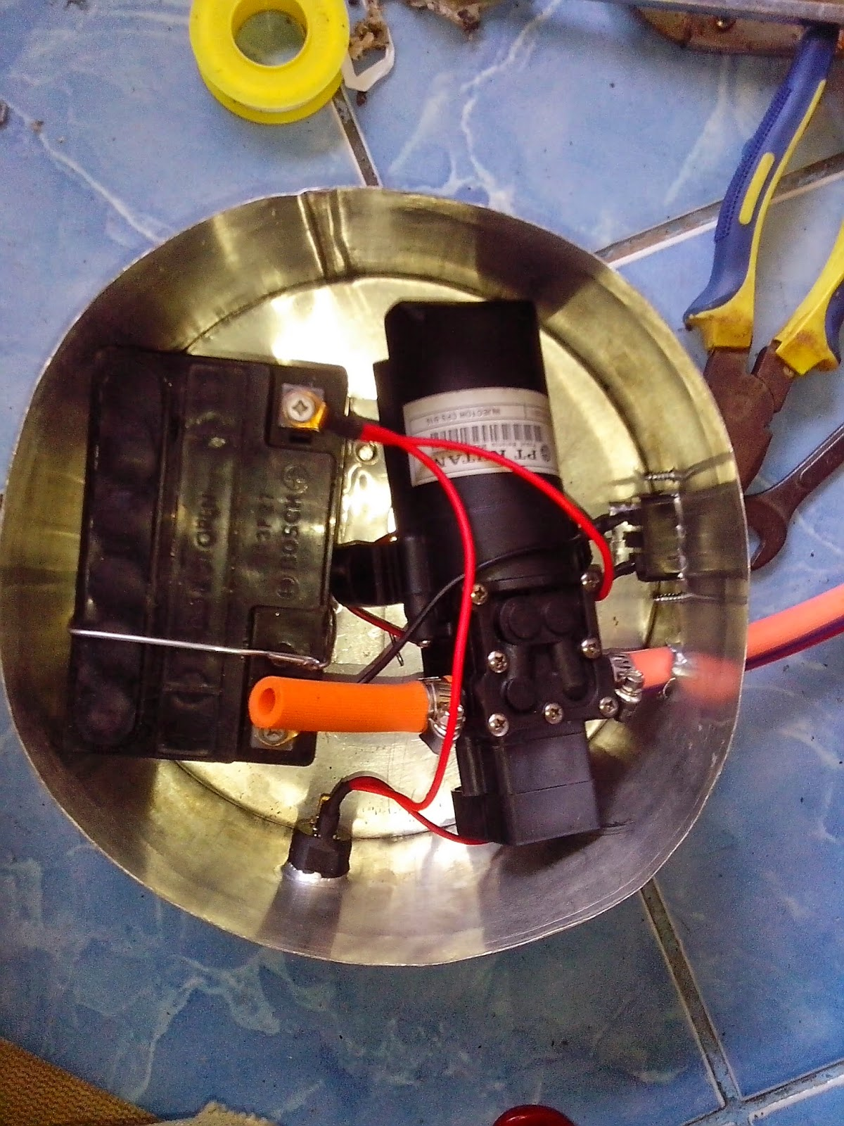 Suku Cadang Alat Semprot Elektrik Listrik (Semprot Pompa Manual jadi Elektrik)