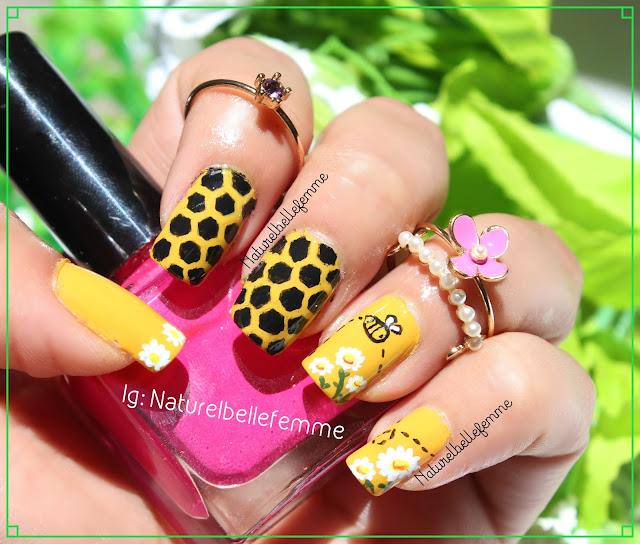 Honey bee manicure