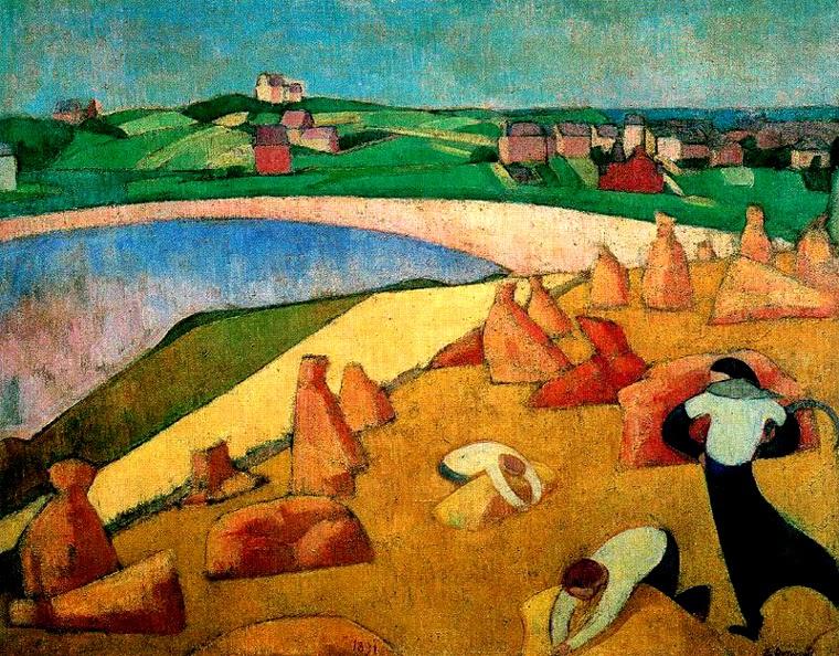 Colheita na Beira da Praia - Émile Bernard e suas principais pinturas