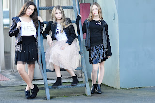 Angelina Mee, Bianca Ellingford, and Kayla Cortes in Youngstrs Magazine