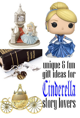 Celebrate your love of Cinderella with these fun and unique gift ideas.  There's more than 25 great ideas for the Cinderella fan, or to decorate your bookshelf in your favorite fairy tale.
