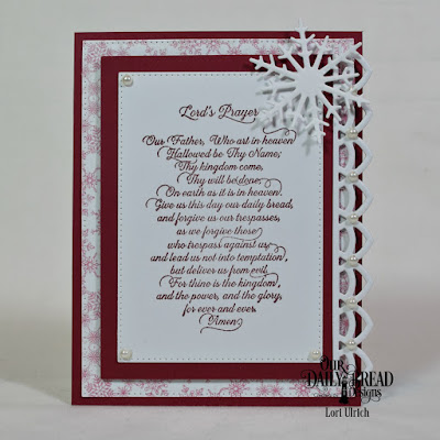 Our Daily Bread Designs Stamp: For Thine is the Kingdom Our Daily Bread Designs Paper Collection: Snowflake Season, Our Daily Bead Designs Custom Dies: Rectangles, Pierced Rectangles, Deco Border, Snow Crystals