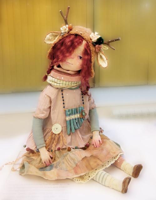 """Елена Кузуб (Самара) """"Тайна"""" Выставка авторской куклы в Самаре """"Куклы. Эмоции. Чувства."""""""