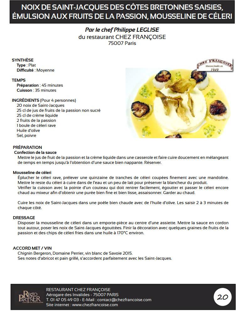 recette noix de saint jacques avec  corail