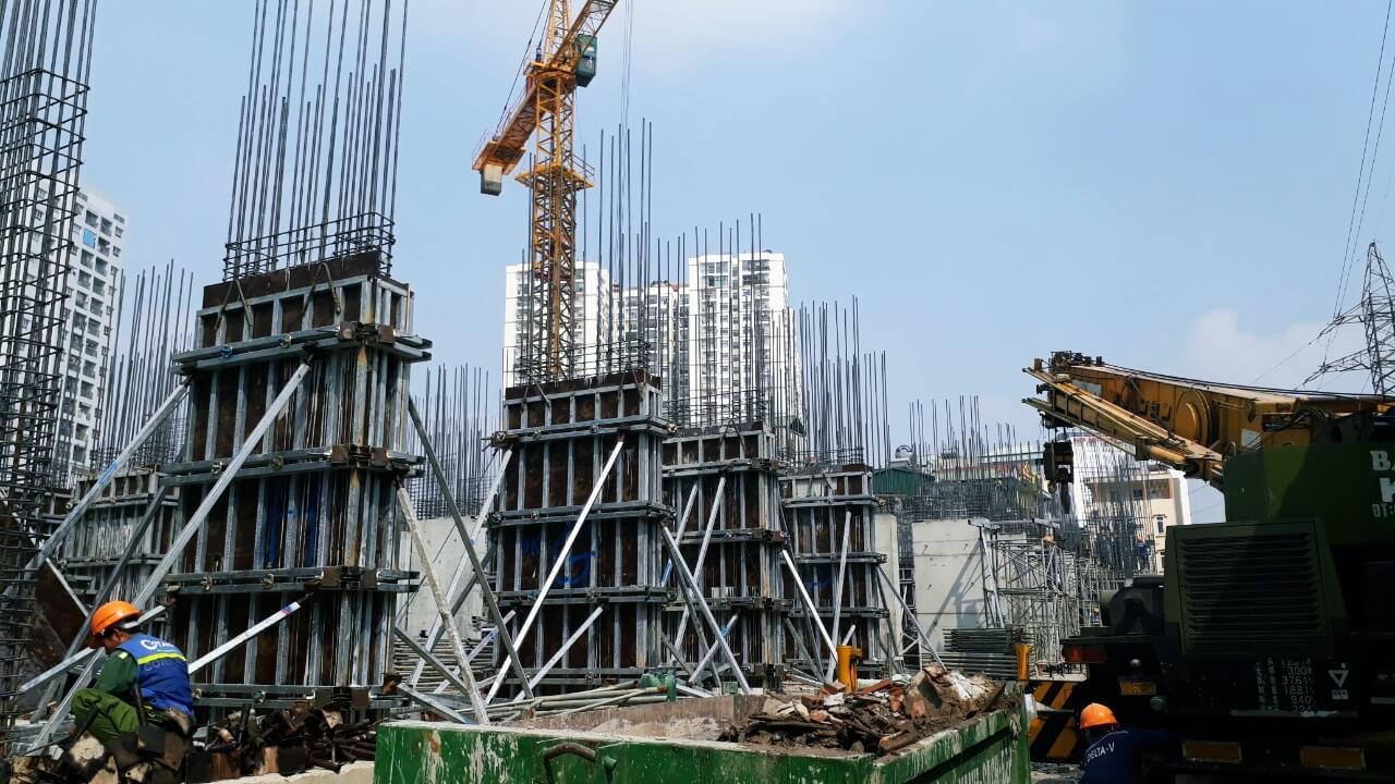Cập nhật tiến độ xây dựng chung cư 622 Minh Khai