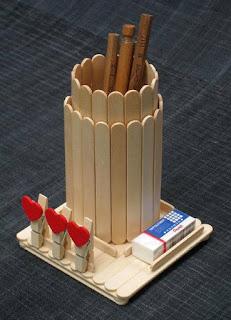 Kerajinan stik es krim Tempat pensil