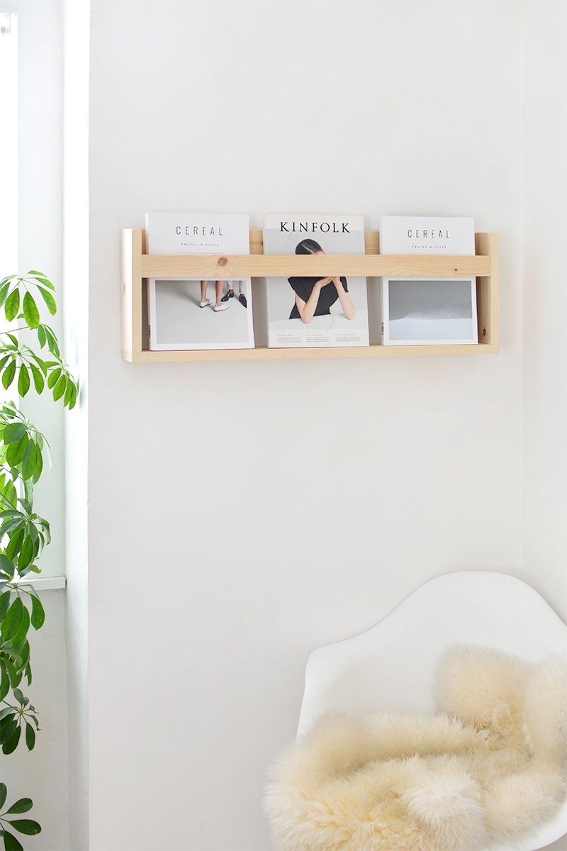 DIY magazine shelf tutorial