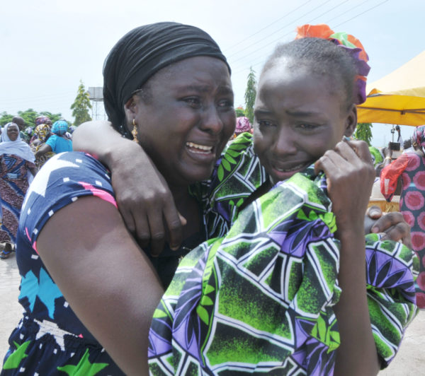 One of rescued Chibok School Girls with her Mother