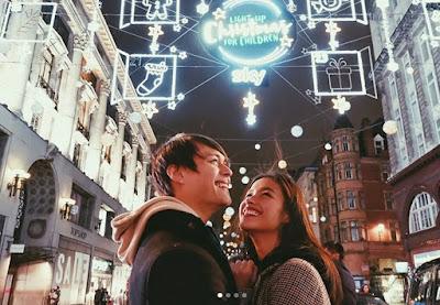 Liza Soberano and Enrique Gil LIZQUEN in London, U.K. on Christmas 2017
