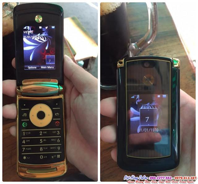 Điện thoại nắp gập chính hãng motorola v8 luxury edition giá chỉ 1,2tr tại  đường vũ định tụng
