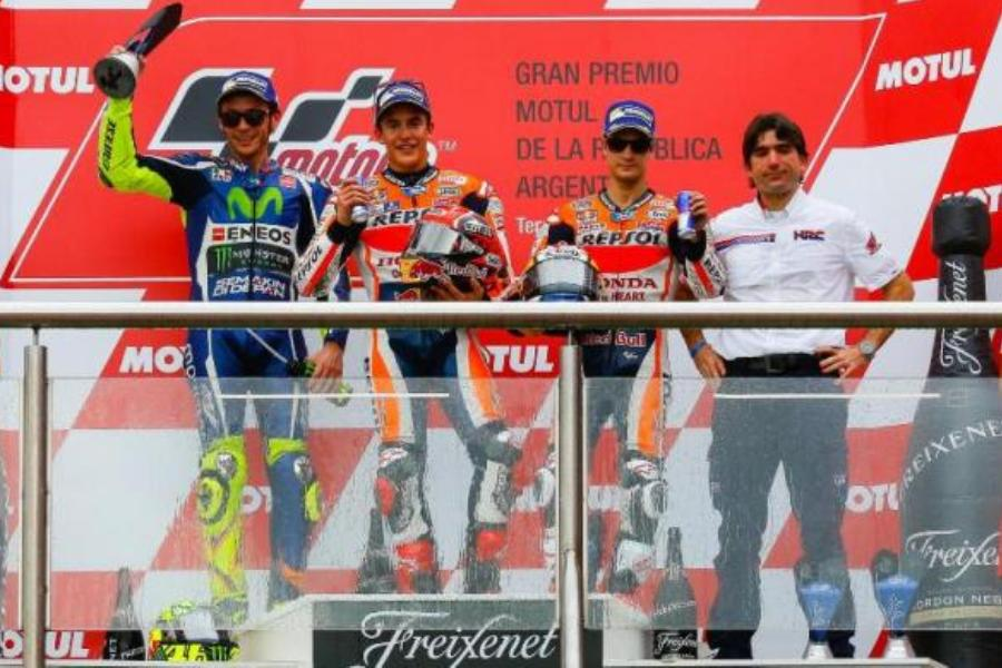 Photo Gallery MotoGP Argentina Termas de Rio Hondo 2016 Podium Race Accident
