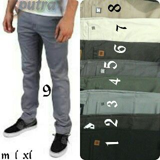 celana chino panjang pria Pilihan warna Abu
