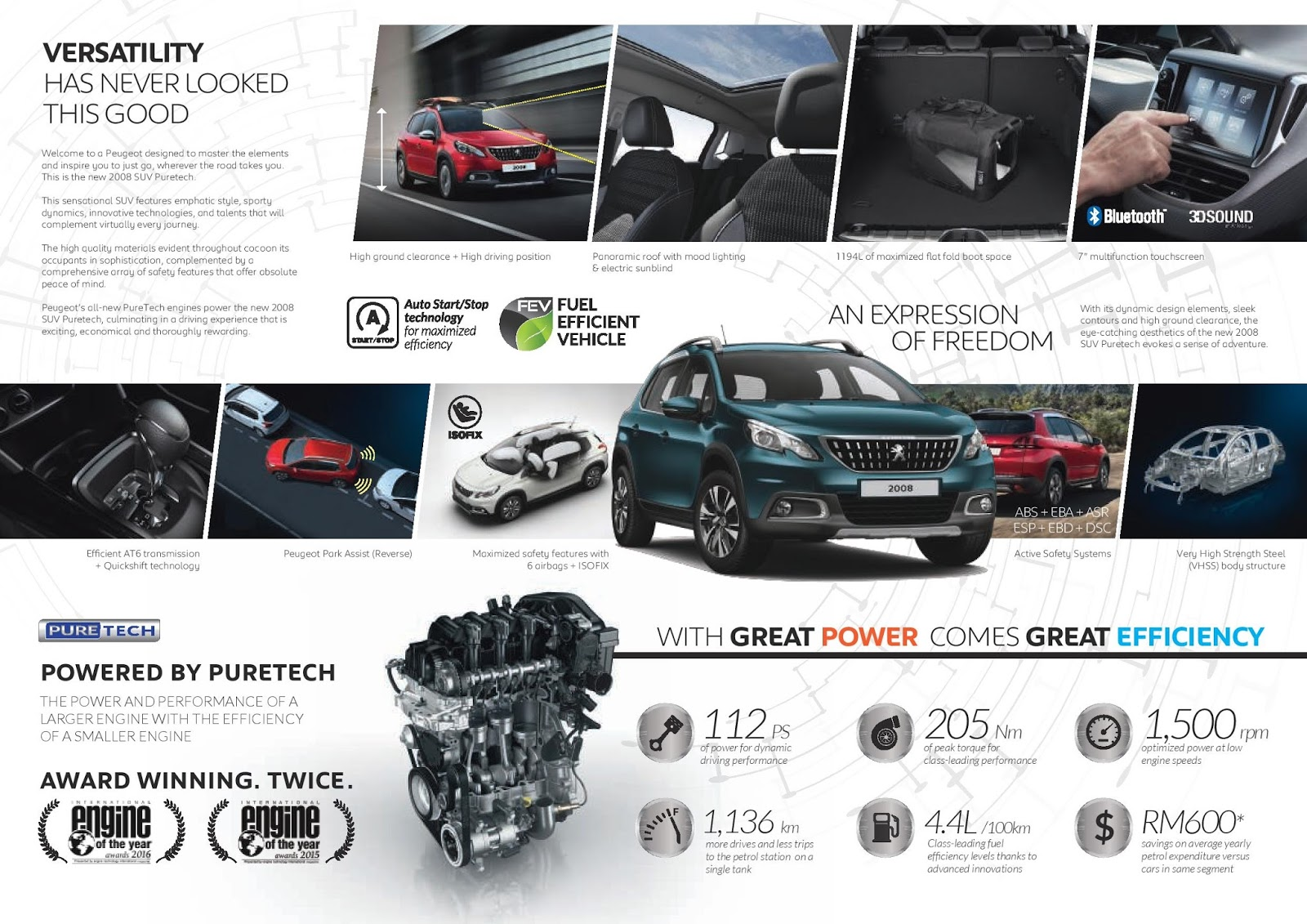 motoring malaysia peugeot 208 puretech and 2008 suv puretech are launched new engines and. Black Bedroom Furniture Sets. Home Design Ideas