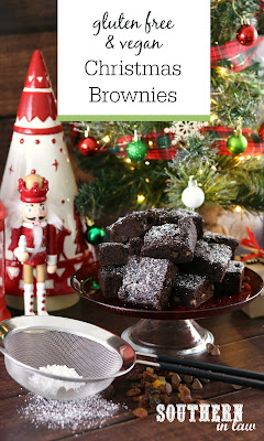 Gluten Free Vegan Christmas Brownies Recipe with Fruit Mince