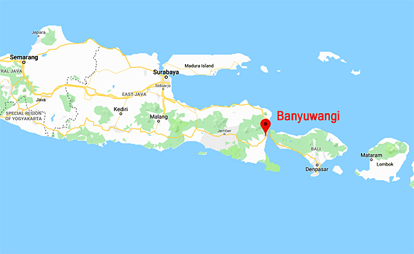 Location of Banyuwangi
