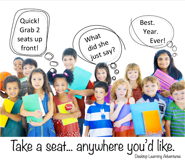 We can learn a lot about our students by letting them chose where they'd like to sit.
