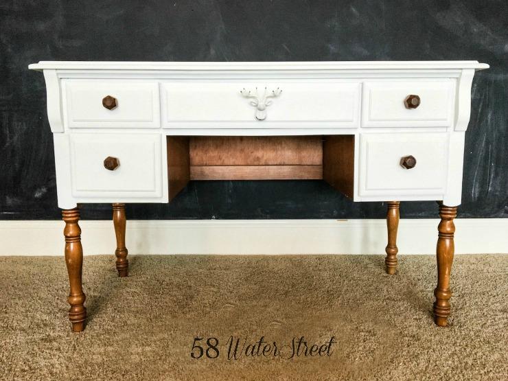 DIY, painted furniture, furniture makeover, modern makeover, hardware
