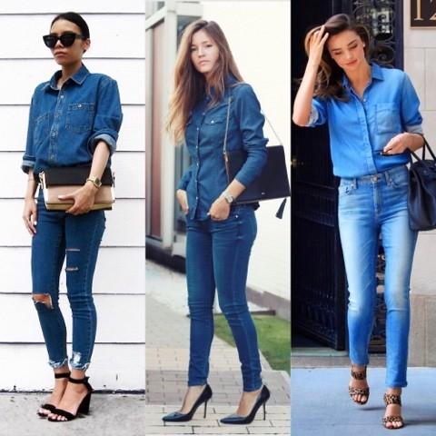 Aposte nos looks total jeans