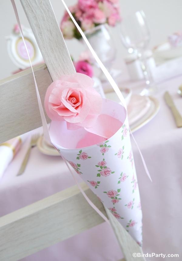 DIY Wedding Confetti Cones with Free Printables - BirdsParty.com