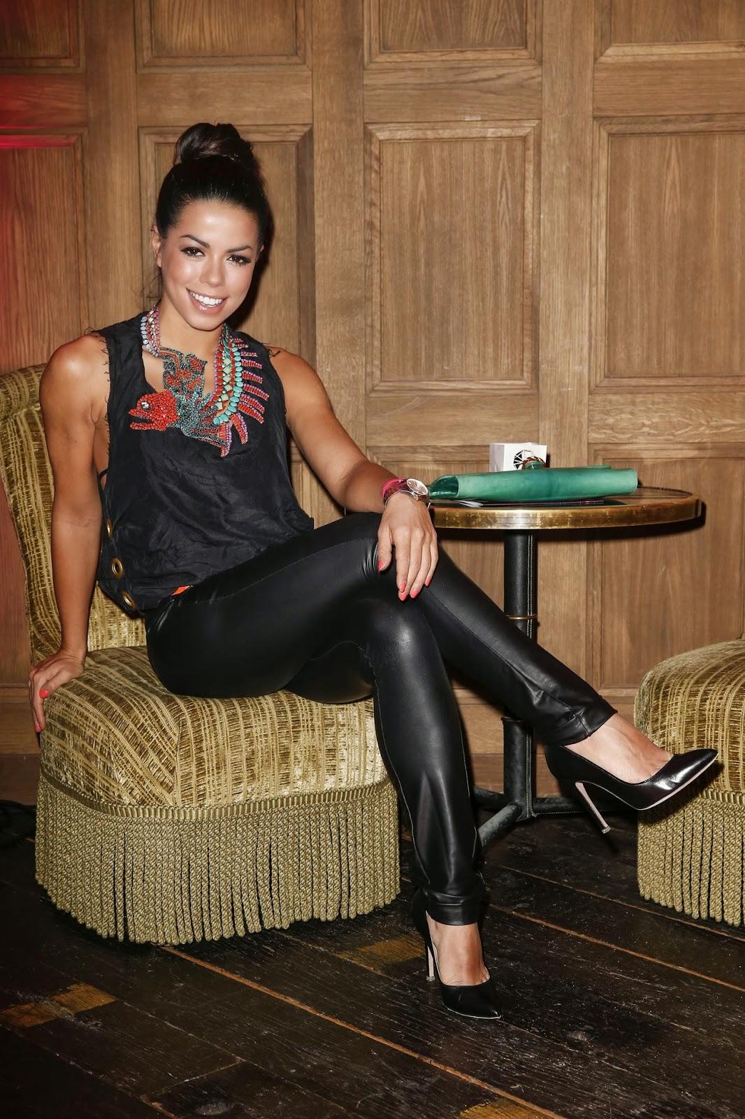 Lovely Ladies In Leather Fernanda Brandao In Leather Pants