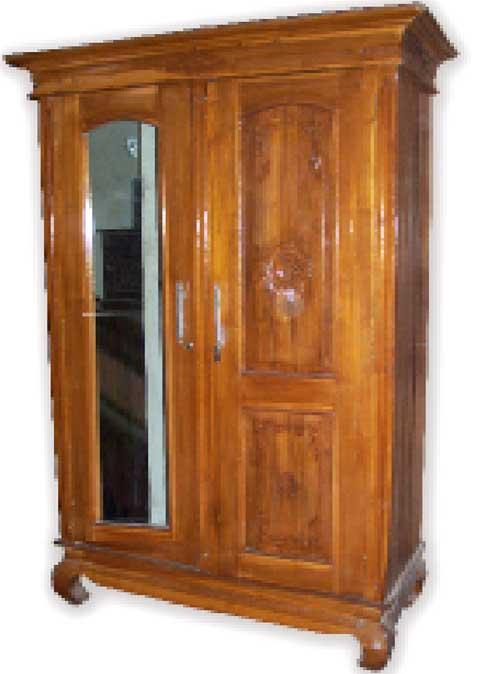lemari pakaian jati 2 pintu