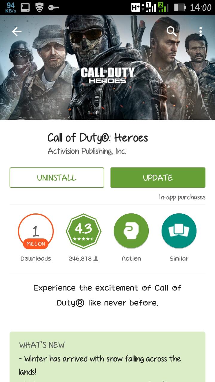 Call Of Duty: Heroes 1.2.1