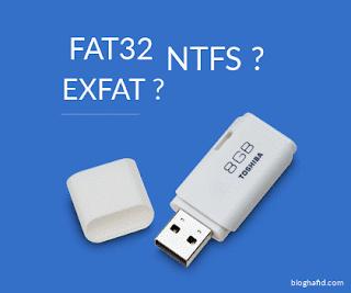 flashdisk fat32 ntfs exfat
