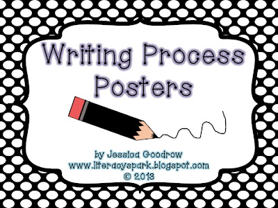 writing process posters free Glitter writing process posters by a spoonful of creativity at tpt also included in the bundle are blank pencils and writing process bookmarks.