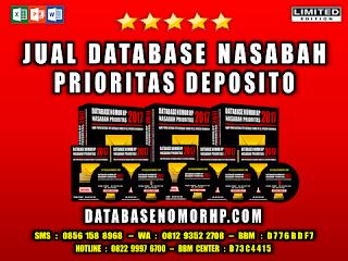 Jual Database Nasabah Prioritas Deposito