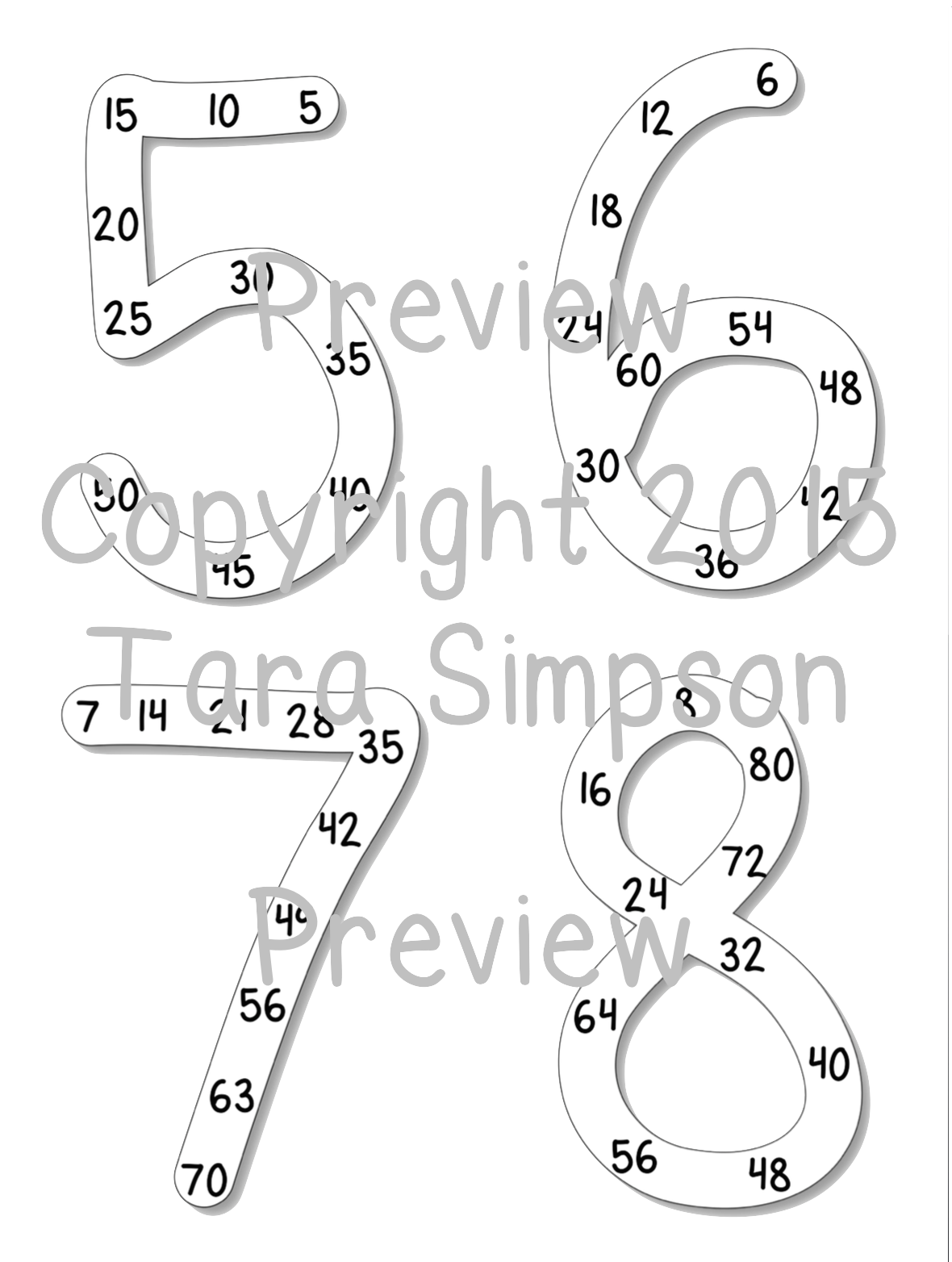 Tara Teaches: Easy to Follow Math Multiples