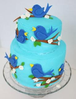 kue ultah tingkat burung
