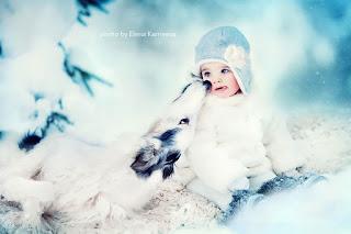 كوكتيل صور اطفال مع حيوانات