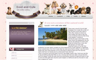 template blogger COOL AND CUTE