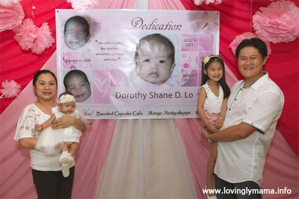 baby christenings ideas bacolod- family portrait