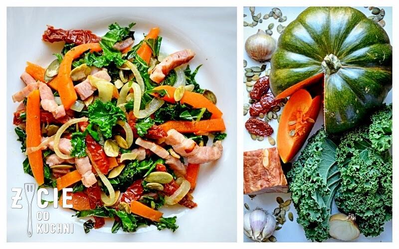 salatka z dynia, pazdziernik sezonowe owoce pazdziernik sezonowe warzywa, sezonowa kuchnia, pazdziernik, zycie od kuchni