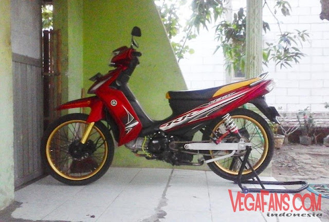 Vega RR Merah Modif Simple Velg Orange