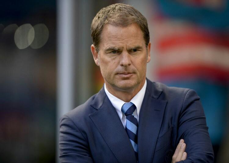 Frank De Boer quando allenava l'Inter