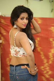 Deekshita Parvathi in a short crop top and Denim Jeans Spicy Pics Beautiful Actress Deekshita Parvathi January 2017 CelebxNext (56).JPG