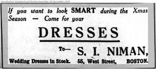 S I Niman, Boston, Lincolnshire 1933