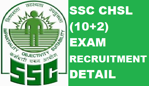 SSC : CHSL (10+2) Recruitment Exam Detail