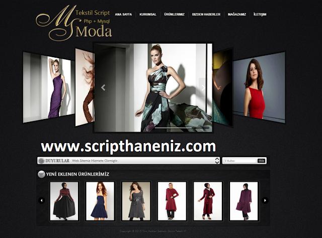 Php Moda ve Tekstil Scripti İndir